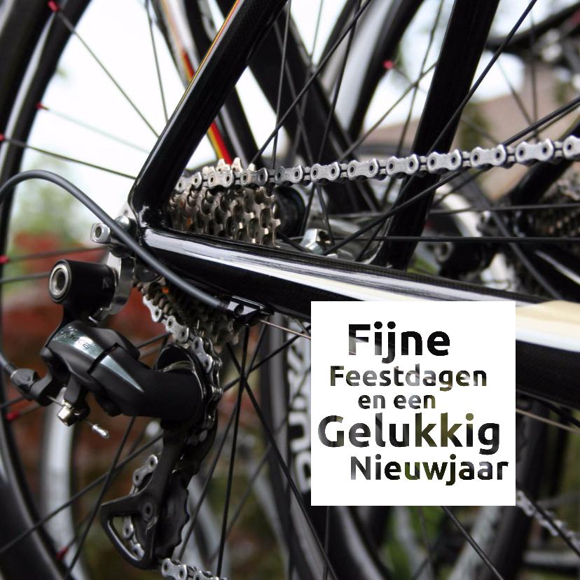 Zakelijke kerstkaarten - kerst nieuwjaar bedrijf fiets