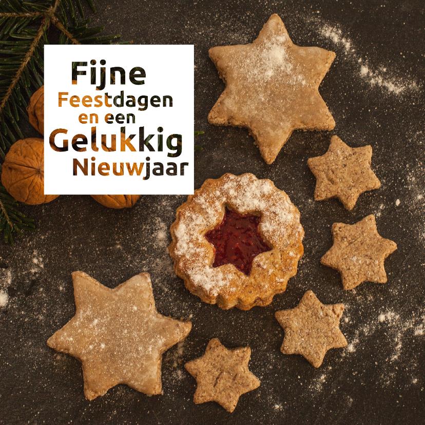 Zakelijke kerstkaarten - kerst nieuwjaar bedrijf gebak