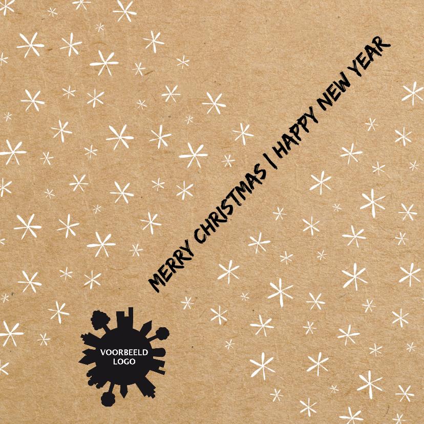 Zakelijke kerstkaarten - Kerst sterren modern papier - HR