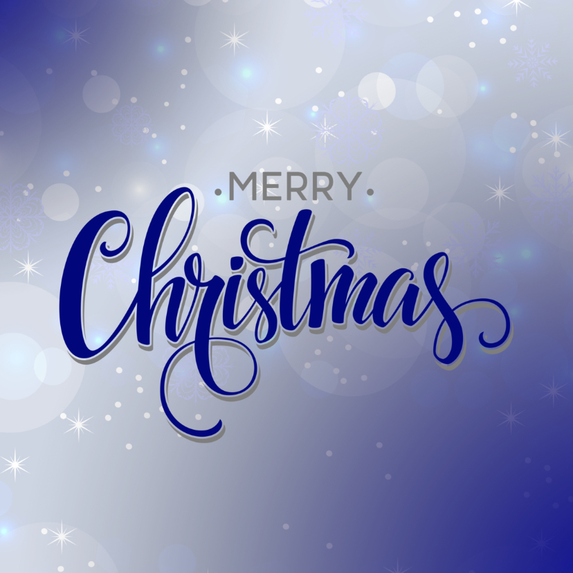 Zakelijke kerstkaarten - Kerst zakelijk blauw
