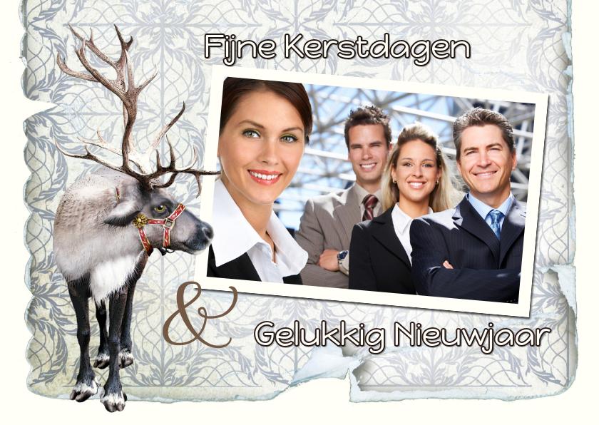 Zakelijke kerstkaarten - Kerst zakelijk met rendier en eigen foto 2019
