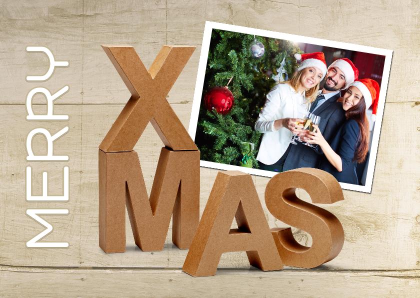 Zakelijke kerstkaarten - Kerst zakelijk eigen foto XMAS karton