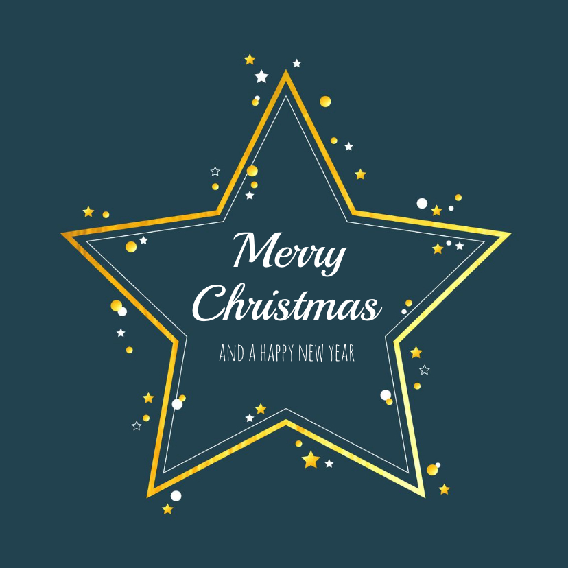 Zakelijke kerstkaarten - Kerst - Zakelijke kerstkaart met gouden ster