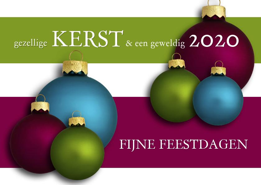 Zakelijke kerstkaarten - Kerstballen Kerstkaart 2019 - OT