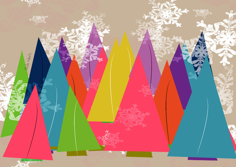 Zakelijke kerstkaarten - Kerstbomen zakelijk