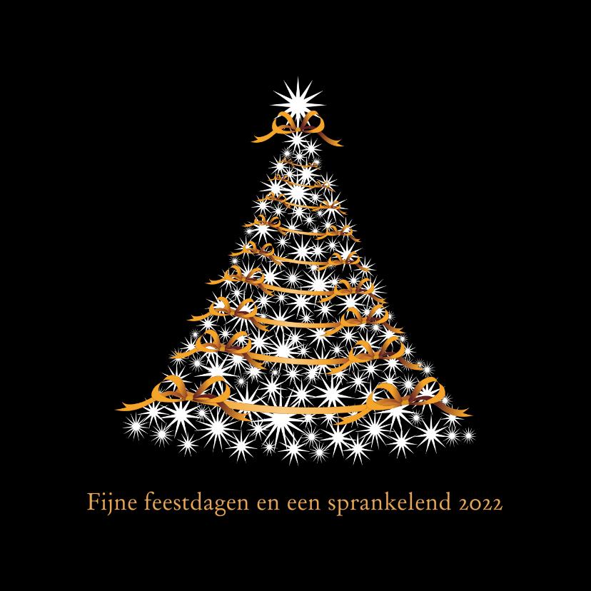 Zakelijke kerstkaarten - Kerstboom op zwart