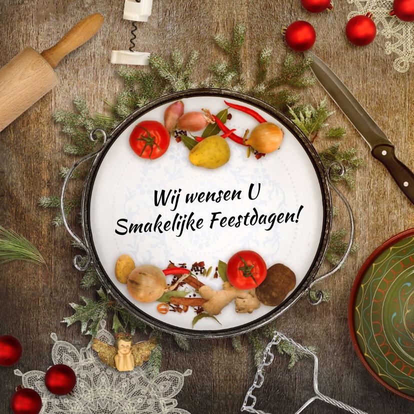 Zakelijke kerstkaarten - Kerstkaart culinair eten sfeer