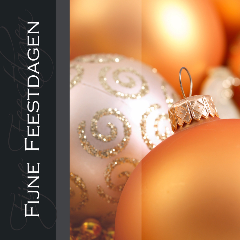 Zakelijke kerstkaarten - Kerstkaart fijne feestdagen oranje