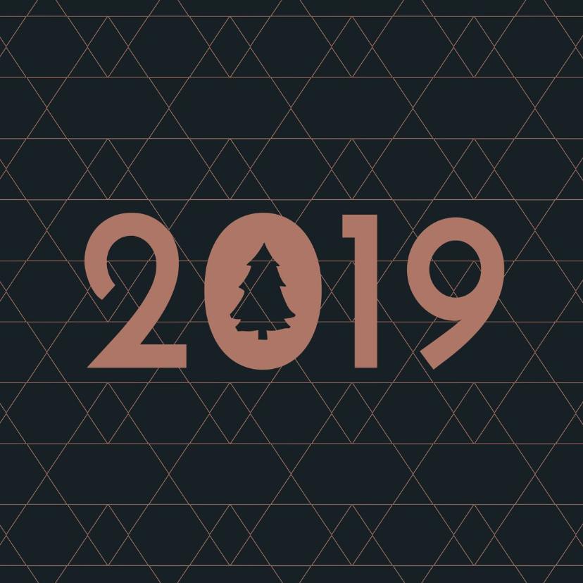 Zakelijke kerstkaarten - Kerstkaart  grafische ster 2019