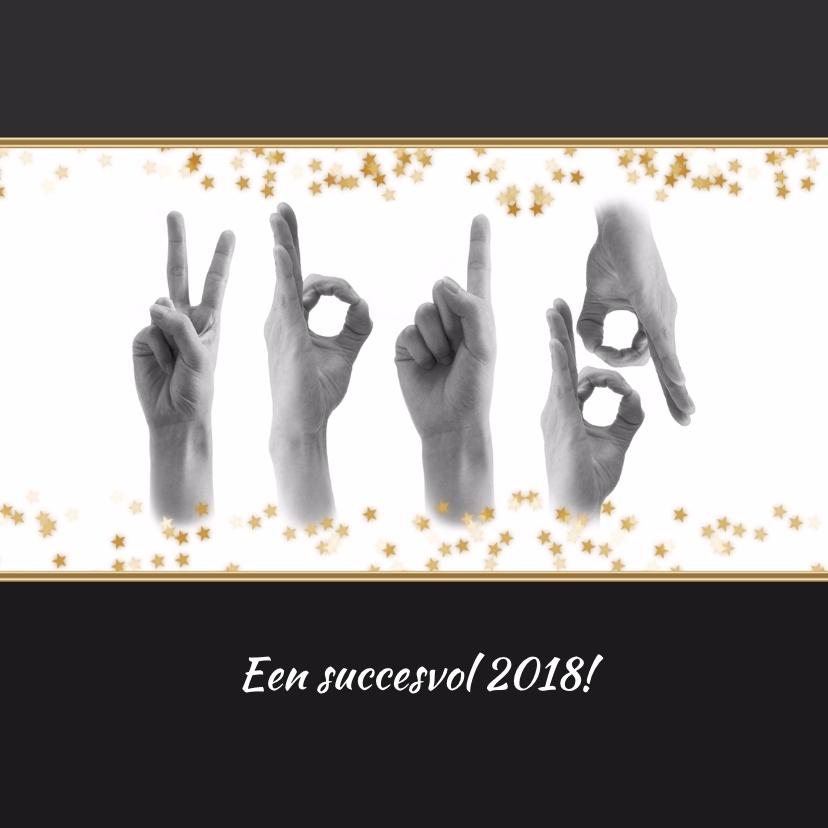 Zakelijke kerstkaarten - Kerstkaart handen samen 2018