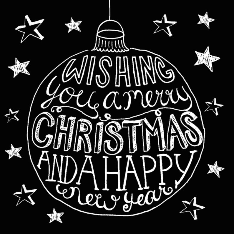 Zakelijke kerstkaarten - Kerstkaart handlettering black