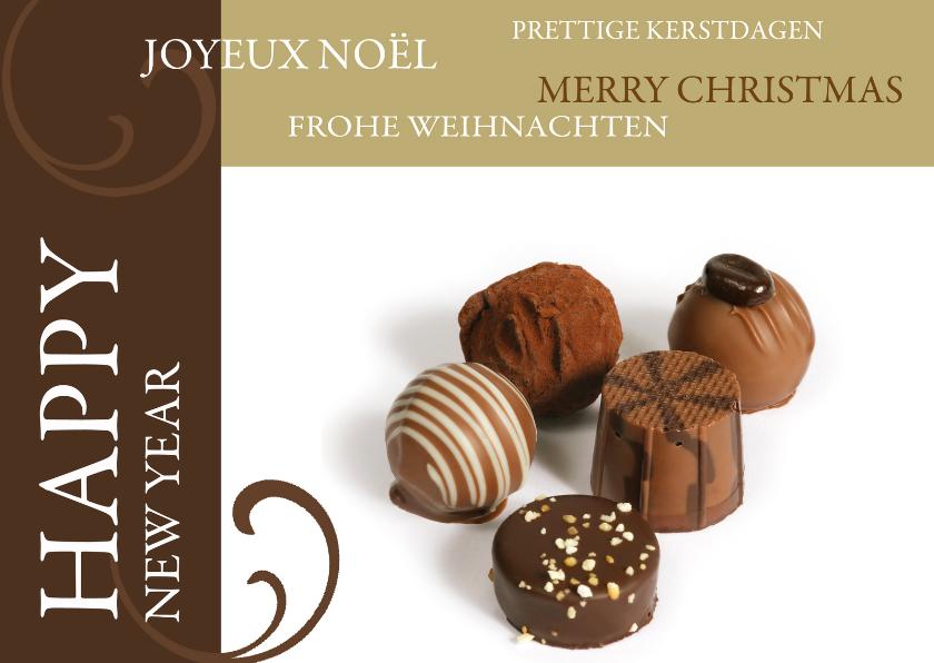 Zakelijke kerstkaarten - Kerstkaart Happy New Year chocolaterie