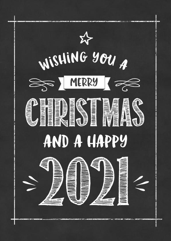 Zakelijke kerstkaarten - Kerstkaart Krijtbord happy 2020