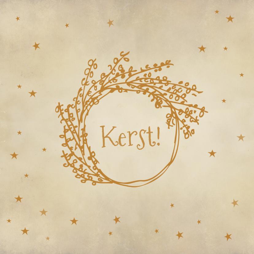 Zakelijke kerstkaarten - Kerstkaart Mistletoe goud