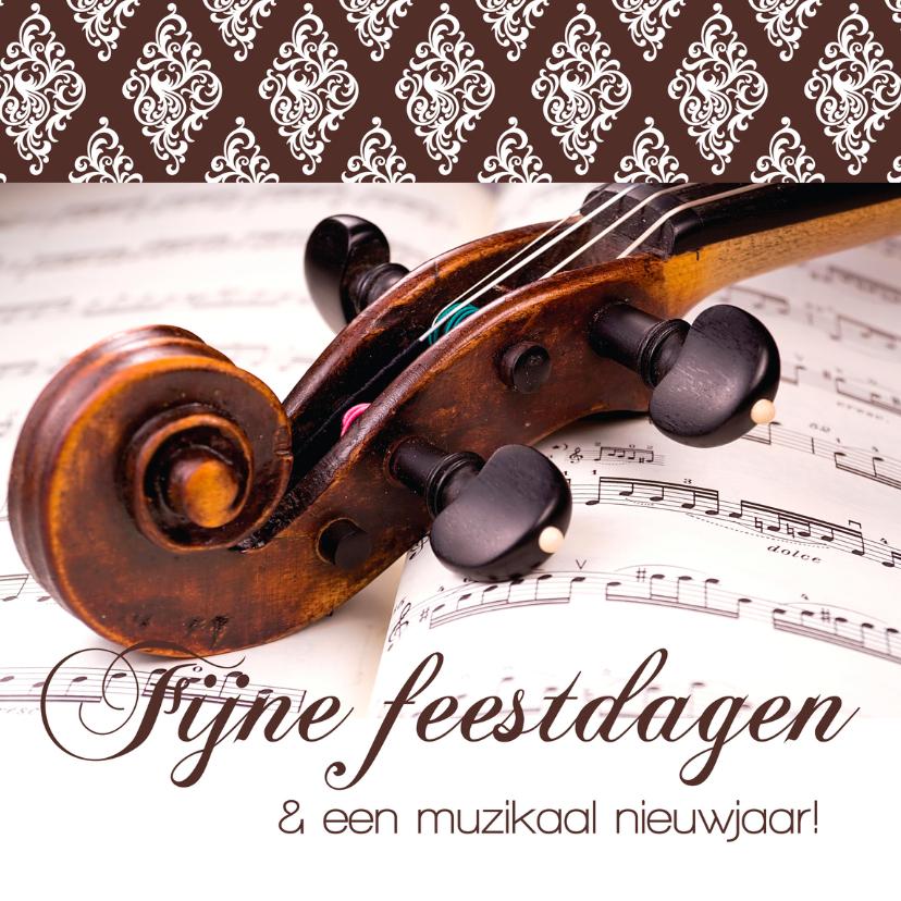 Zakelijke kerstkaarten - Kerstkaart muzikaal nieuwjaar