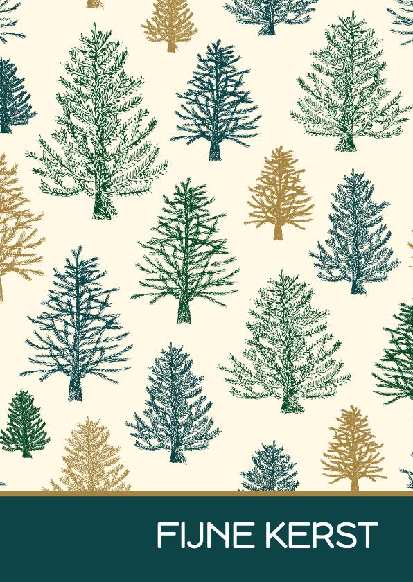 Zakelijke kerstkaarten - Kerstkaart patroon bomen
