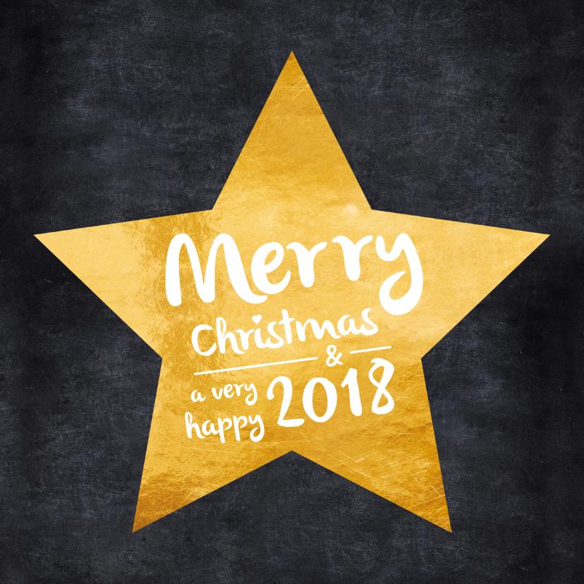 Zakelijke kerstkaarten - Kerstkaart ster op krijtbord 2018