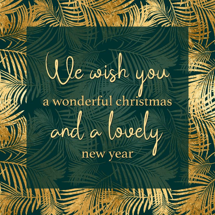 Zakelijke kerstkaarten - Kerstkaart | Wish you a wonderful Christmas