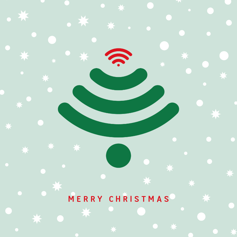 Zakelijke kerstkaarten - Kerstkaart zakelijk Wifi kerstboom