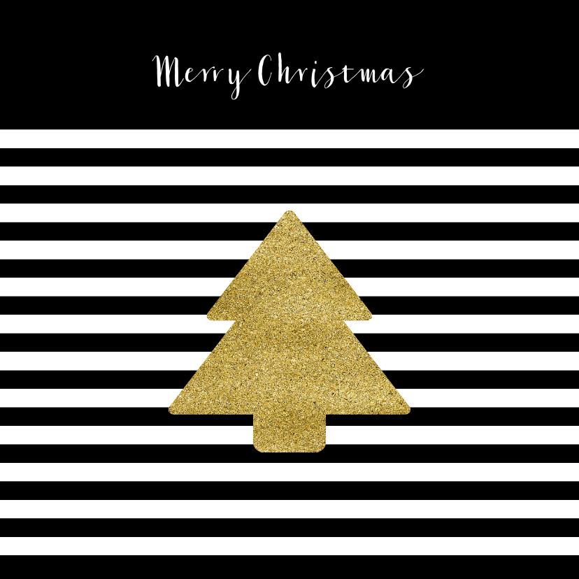 Zakelijke kerstkaarten - Kerstkaart zwart wit goud kerst ster goud