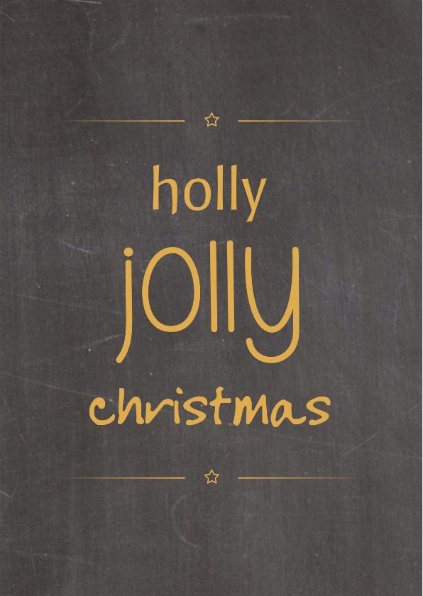 Zakelijke kerstkaarten - Kerstkaarten - Holly Jolly...