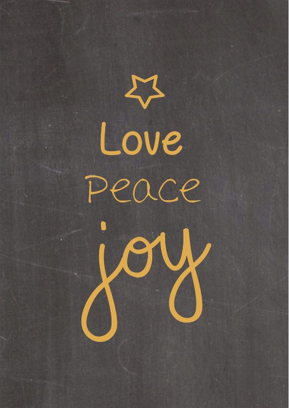Zakelijke kerstkaarten - Kerstkaarten - Love, Peace, Joy