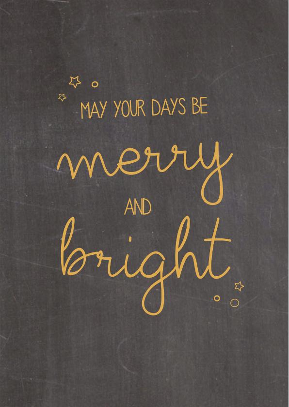 Zakelijke kerstkaarten - Kerstkaarten - May your days..