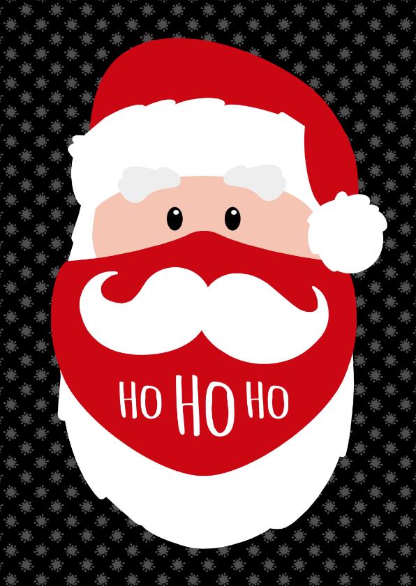 Zakelijke kerstkaarten - Kerstman mondkapje bedankt Ho ho ho