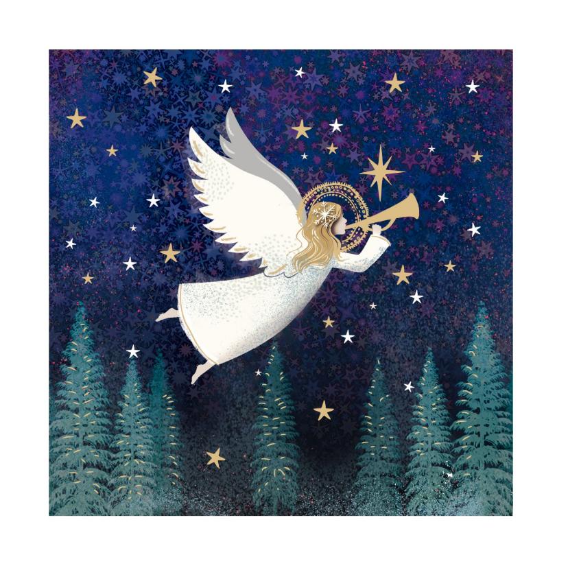 Zakelijke kerstkaarten - Klassieke kerstkaart met Engel