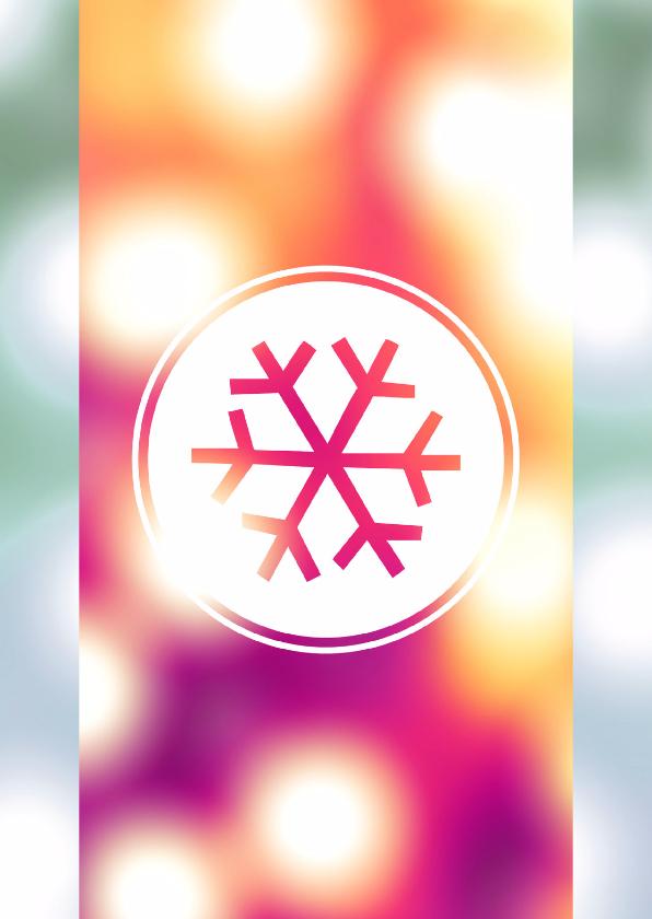 Zakelijke kerstkaarten - Lichtjes blurry & ijs ster