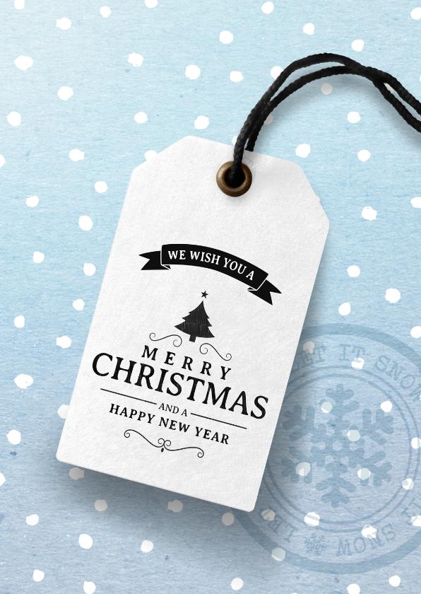 Zakelijke kerstkaarten - Moderne zakelijke kerstkaart 2020 label