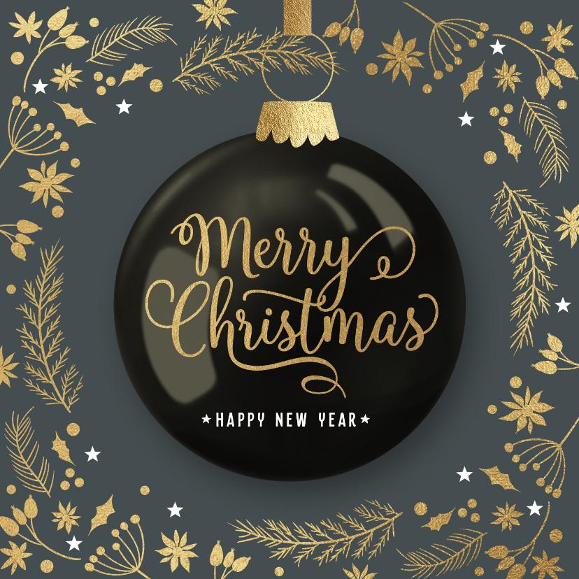 Zakelijke kerstkaarten - Moderne zakelijke kerstkaart kerstbal ornamenten