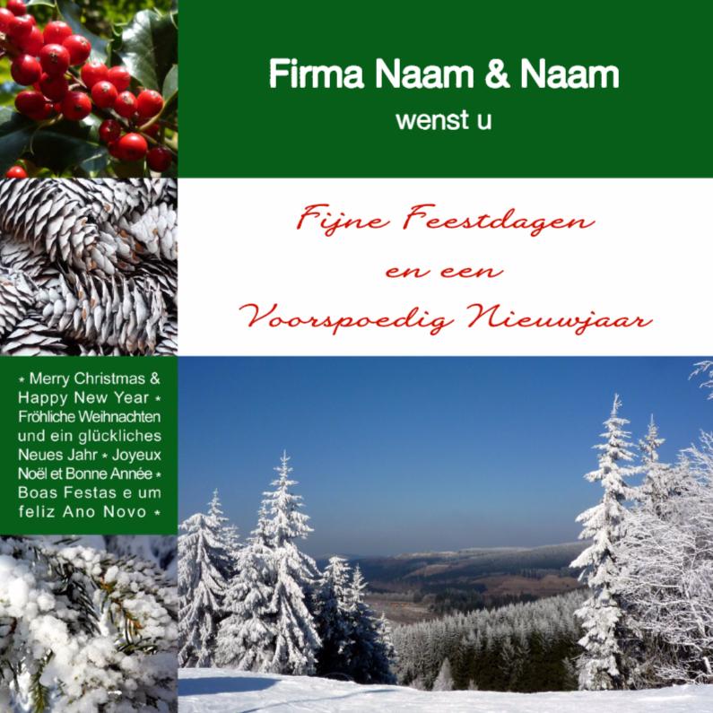 Zakelijke kerstkaarten - Mooi Winters Kerstgroen - 2018