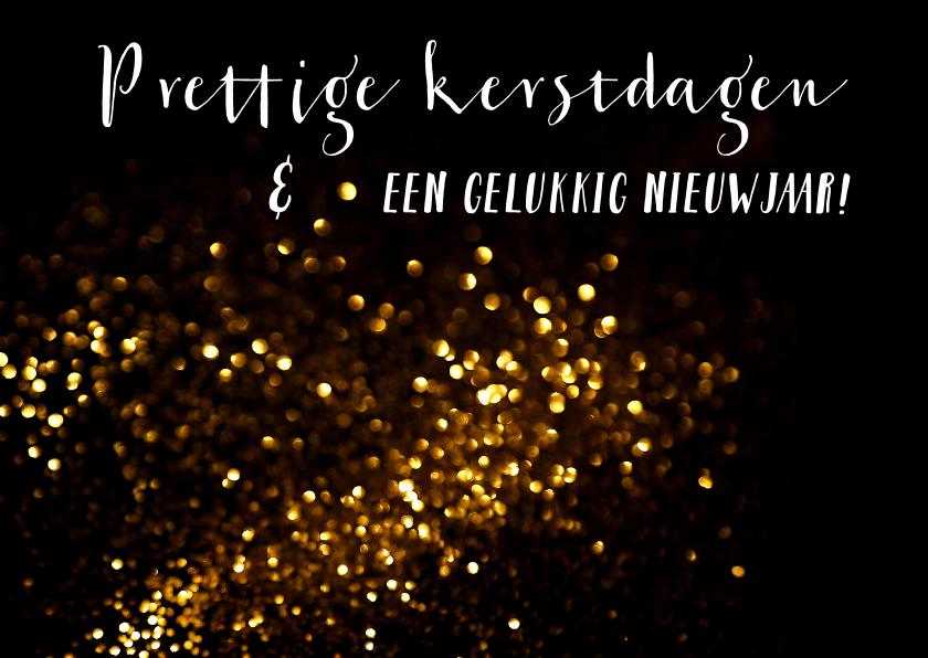 Zakelijke kerstkaarten - Neutrale kerstkaart  glitter - LO