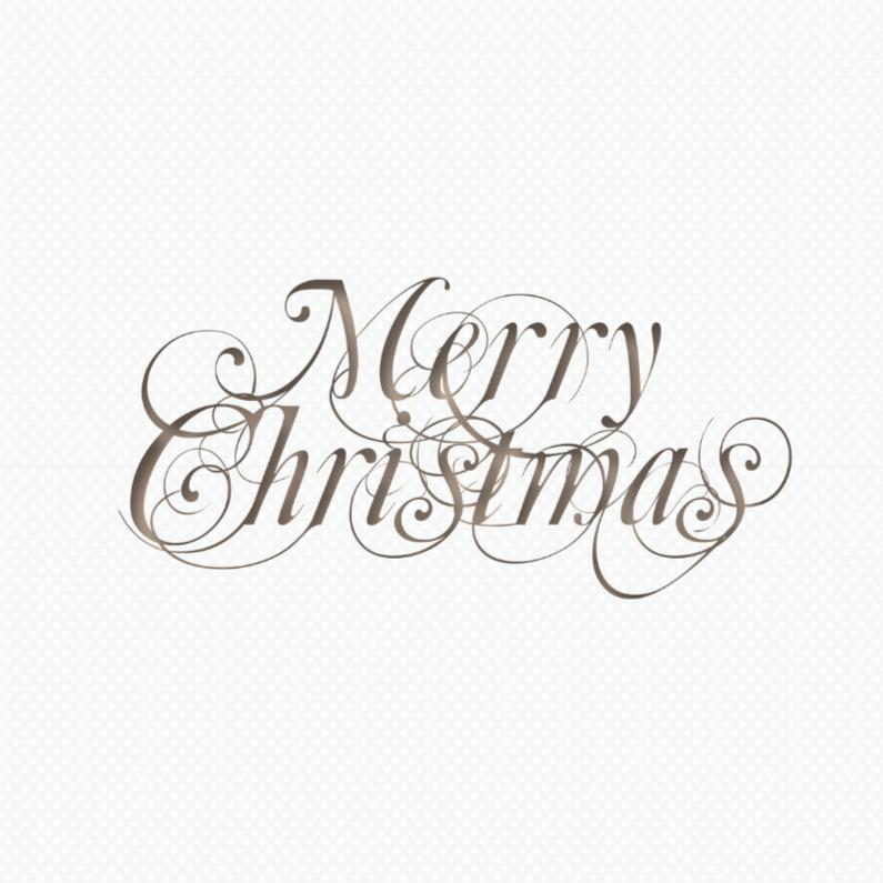 Zakelijke kerstkaarten - Sierlijk Merry Christmas