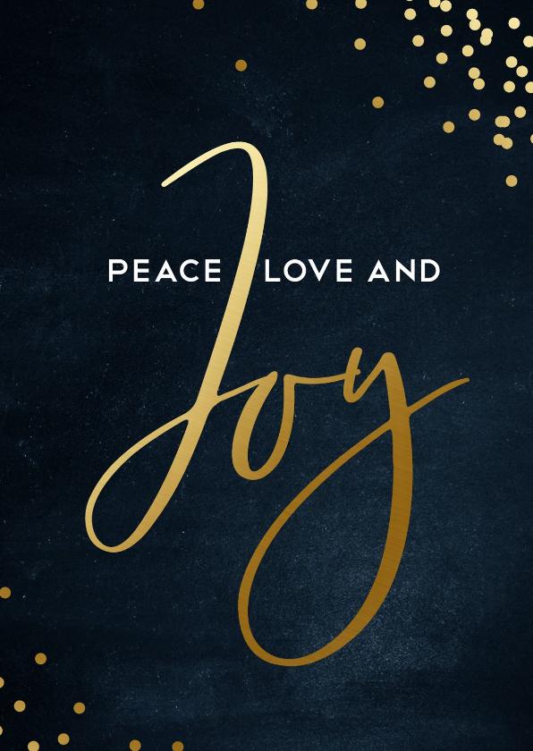 Zakelijke kerstkaarten - Stijlvolle zakelijke kerstkaart  Love peace and Joy