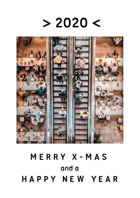 Zakelijke kerstkaarten - Strakke zakelijke kerstkaart met foto