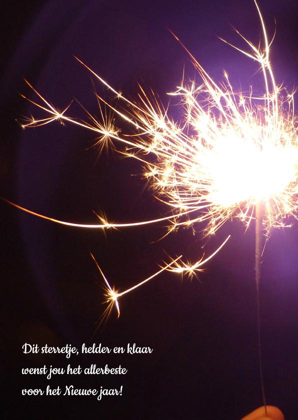 Zakelijke kerstkaarten - Vuurwerk sterretje Nieuwjaar