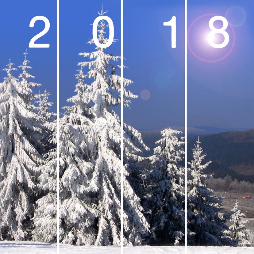 Zakelijke kerstkaarten - Wonderwitte winter 2018