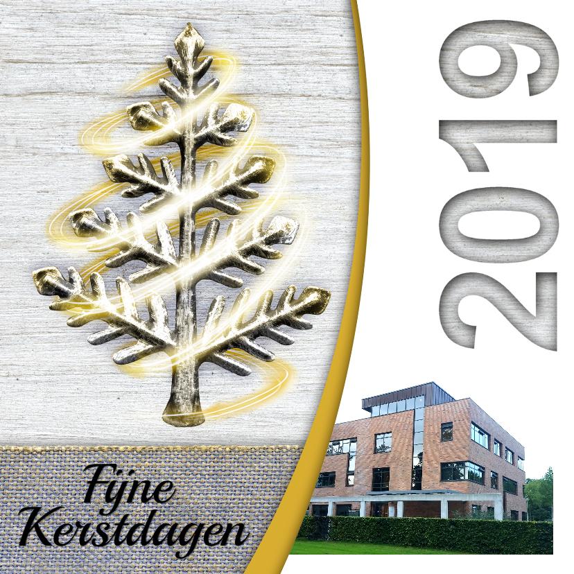 Zakelijke kerstkaarten - YVON kerstboom wit hout