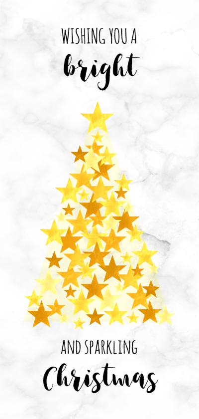 Zakelijke kerstkaarten - Zakelijk goud kerstboom op marmer