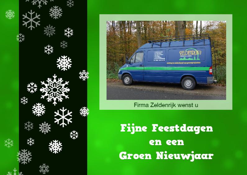 Zakelijke kerstkaarten - Zakelijk groene kerstkaart - foto - logo