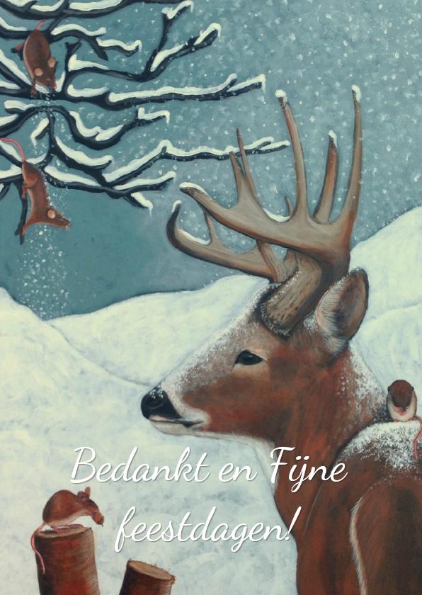 Zakelijke kerstkaarten - Zakelijk kerst en bedankt kaart