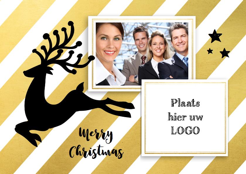 Zakelijke kerstkaarten - Zakelijk kerst goud foto logo - SG