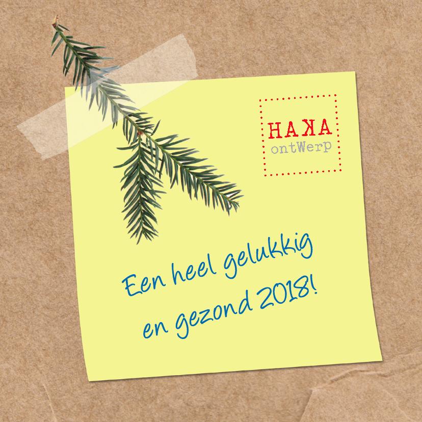 Zakelijke kerstkaarten - Zakelijk Kerst-Sticky note-HK