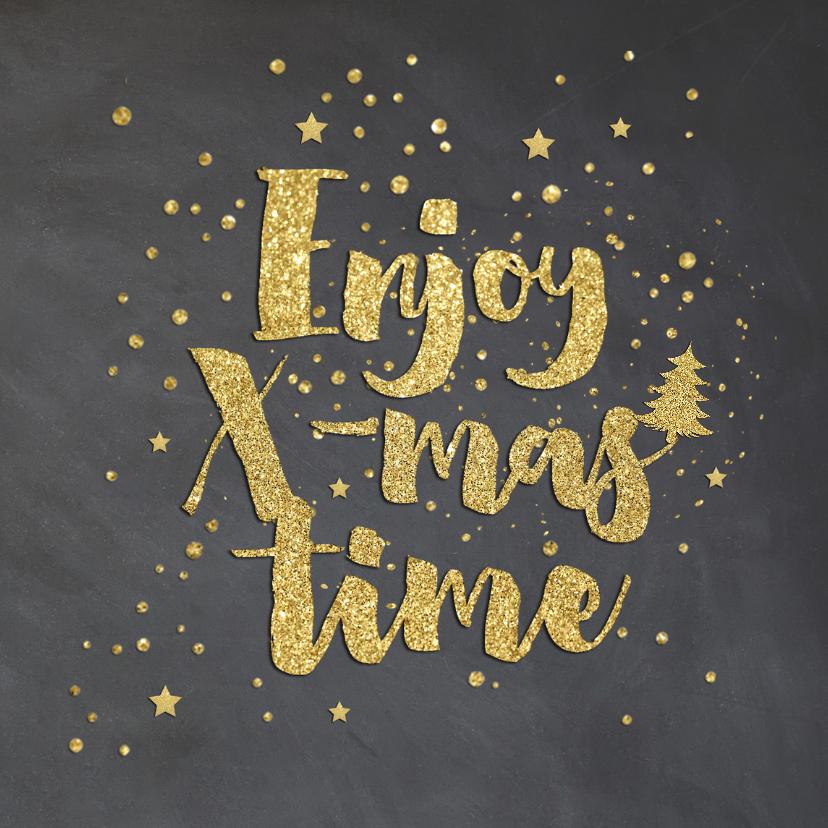 Zakelijke kerstkaarten - Zakelijk kerstkaart - krijt goud