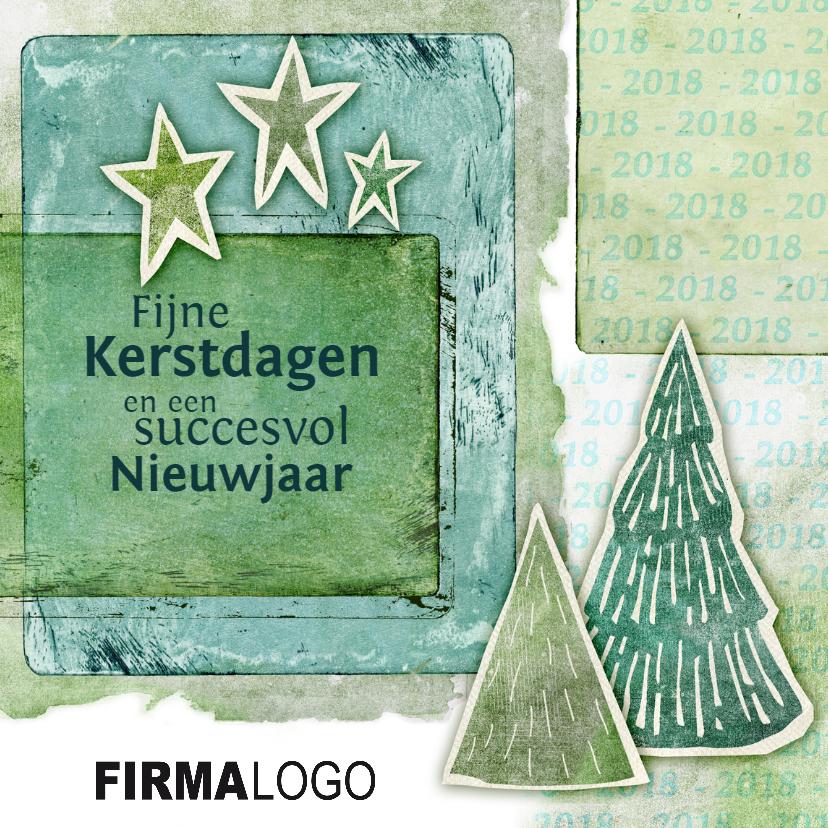 Zakelijke kerstkaarten - Zakelijke 2018  kerstboom logo