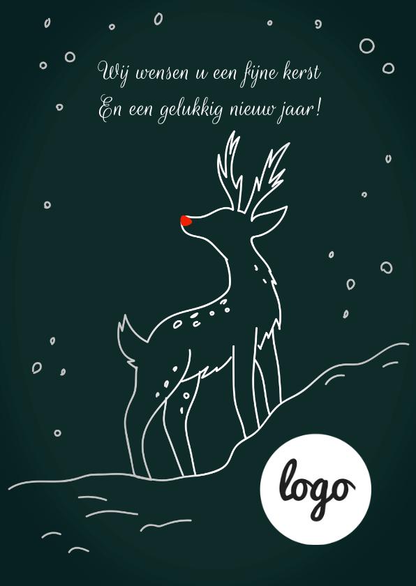 Zakelijke kerstkaarten - Zakelijke Kaart Rendier