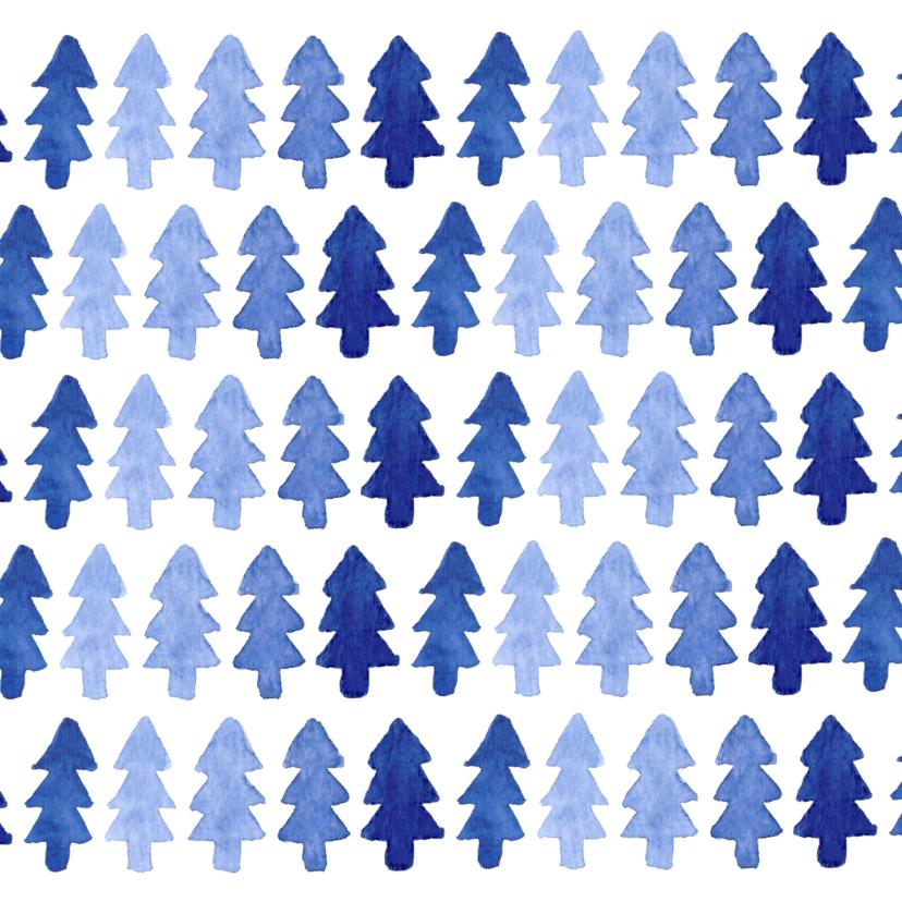 Zakelijke kerstkaarten - zakelijke kerst-blauwe bomen-ADG