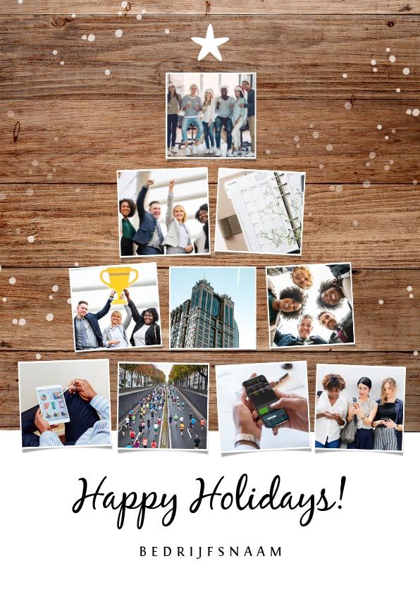 Zakelijke kerstkaarten - Zakelijke kerst en nieuwjaarskaart met fotocollage kerstboom